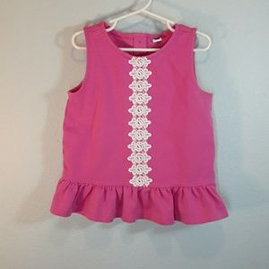 Janie and Jack Shirts & Tops - Janie and Jack peplum embrodered tank top size 6